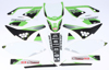 Kawasaki Raceline Graphics Complete Kit White Backgrounds - 09-11 KX450F
