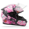 Gm-49Y Snow Helmet Attack Black/Pink Ys - Youth Small