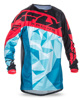 Kinetic Crux Jersey Dark Teal/Red Youth X-Large
