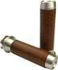 Leather Moto Grips Natural/Tan Honeycomb - Indian Scout