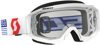 Hustle Goggle White/Red w/Clear Lens