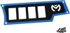 Dashplate Right Blue 4Switch Small - For 15-19 Polaris RZR 900/1000
