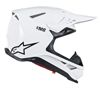 Supertech M8 Solid Motorcycle Helmet Gloss White Medium