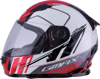 Youth GM-49Y Full-Face Rogue Motorcycle Helmet White/Red Y-Large