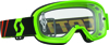 Youth Buzz Goggle Fluorescent Green w/Clear Lens