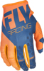 Kinetic Riding Gloves For MX & Off-Road Orange/Navy Sz 8