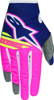 Youth Radar Flight Gloves Blue/Pink/White Y-Large