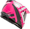 GM-11S Dual-Sport Trapper Snow Helmet Pink/White/Grey X-Small
