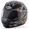 Youth GM-49Y Alien Full-Face Helmet Black/Silver/Yellow Y-Small