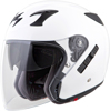 EXO-CT220 Open-Face Solid Motorcycle Helmet White Large