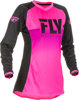 Women's Lite Jersey Neon Pink/Black Youth Large