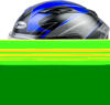 FF-98 Apex Full-Face Motorcycle Helmet Black/Blue 3X