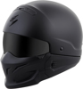 Covert Open-Face Solid Motorcycle Helmet Matte Black 3X-Large