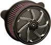 Flow Air Cleaner Assembly Black - Harley