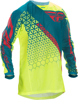Kinetic Trifecta Mesh Jersey Hi-Vis/Teal Youth X-Large