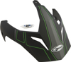 Visor Gm11 F.Blk/Hi-Vis Green Expedition W/3 Screws Tc23