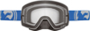 NFX Goggle Blue White Split W/Clear Lens