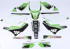 Kawasaki Raceline Graphics Complete Kit Black Backgrounds - 09-12 KX250F