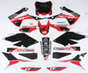 Honda Raceline Graphics Complete Kit Black Backgrounds - 14-17 CRF250R