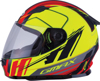 Youth GM-49Y Full-Face Rogue Motorcycle Helmet Matte Hi-Vis Yel/Red Y-Large