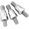 BikeMaster Motorcycle Mirror Adapters - 10mm Female, 8mm Male - Chrome