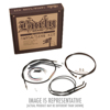"Black Control Cable Kit 14"" Tall Apehanger"