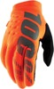Brisker Gloves - Orange Short Cuff Youth Large