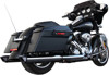 Baritone Chrome Contrast Slip On Exhaust - Harley Touring M8