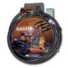 Orange Lines & Black Banjos Front Stainless Offroad Single Brake Line