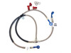 Standard Lines & Blue Banjos Rear Stainless Steel Brake Line - 2010 Can-Am DS90
