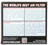 "Universal Rubber Air Filter - 2-1/4""FLG, 4-1/2"" X 3-3/4"", 2""H, OVAL"
