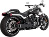 Black Hi Output 2-1 Short Full Exhaust - Harley Softail & Breakout