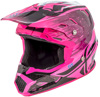 Toxin Resin Motorcycle Helmet Black/Neon Pink Youth Large