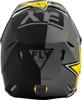 Kinetic Rockstar Helmet Grey/Black/Yellow X-Small