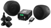 Black 600 Watt Motorcycle ATV Sound System with Bluetooth Streaming FM Tuner