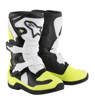 Tech 3S Yooth MX Boots Black/White/Yellow Size Y10