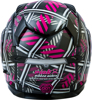 MD-01S Pink Ribbon Riders Modular Snow Helmet Black/Pink Medium