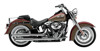 "3"" Chrome Slip On Exhaust - Harley Softail Deluxe/Slim/Crossbones"
