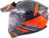 EXO-AT950 Snow Helmet Graphic w/Electric Shield Orange/Grey Large