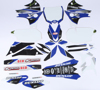 Yamaha Raceline Graphics Complete Kit White Backgrounds - 10-13 YZ450F