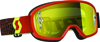 Youth Buzz Goggle Black/Fluorescent Yellow w/Yellow Chrome Lens