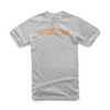 Blaze Tee Grey Heather/Orange Large