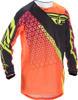 Kinetic Trifecta Mesh Jersey Fluorescent Orange/Black Youth X-Large