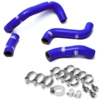 00-12 Suzuki DRZ400S/SM Moose Racing Radiator Hose/Clamp Kit Blue