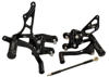 07-08 Suzuki GSXR1000 Voodoo Black Adjustable Rearsets