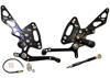 11-13 Kawasaki Z1000 SX ABS Voodoo Black Adjustable Rearsets