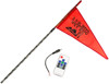 3' Black RF Color LED Flag Whip Rod - LED Rod Whip
