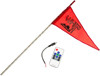 3' White RF Color LED Flag Whip Rod - LED Rod Whip