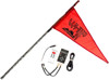 5' Black Deluxe RF Color LED Flag Whip Rod