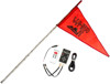 7' White Deluxe RF Color LED Flag Whip Rod - LED Rod Whip